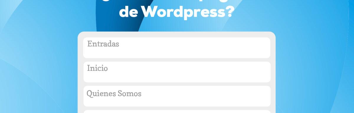 ¿Qué es una página de WordPress?