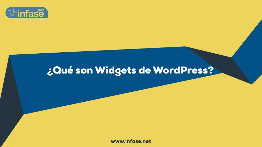 ¿Qué son Widgets en WordPress?