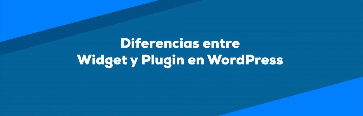 Diferencia entre widgets y plugins en WordPress