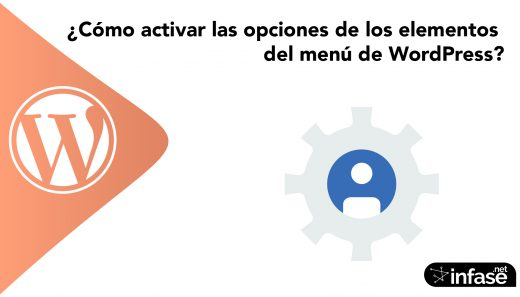 ¿Cómo activar las opciones de los elementos del menú de WordPress?