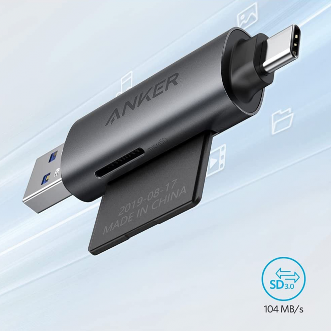 Anker lector a tipo c y usb